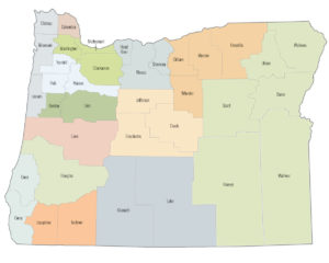 Oregon Counties Map